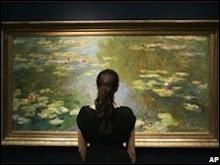Monet's lilies, rarely seen