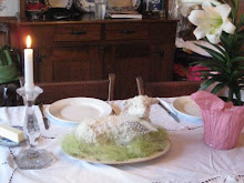 My beautiful lamb cake from my 100 year old Griswold lamb cake mold