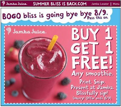 Jamba Juice, Jamba Juice Buy 1 Get 1 Free, Jamba Juice coupon