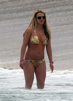 Britney spears in beach