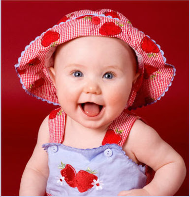 Smiling Baby In Red