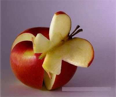 Funny Apple Photos, Butterfly Apple Pictures