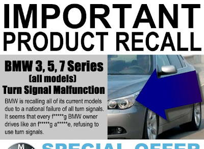 Doug Ross @ Journal: Critical Recall Notice For All BMW Drivers