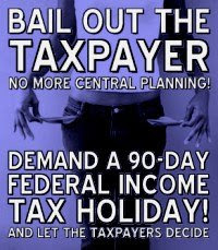 Hey, here's an idea, Nancy Murtha O'Reid. How about you bail out the American taxpayer? Instead of swizzling around hundreds of billions in a fruitless central-planning exercise, cut federal income taxes to zero for 90 days. For every taxpayer. I can guaran-dam-tee that less mortgages will fall behind, more cars will be purchased, retail will go nuts, etc.