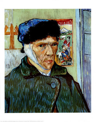 S1158~Autoportrait a l oreille coupee Affiches Quel était le mal de Van Gogh ?