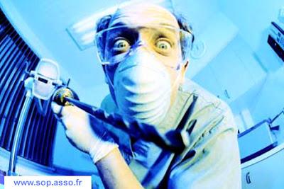 dentiste Le bruit tape sur les nerfs des dentistes