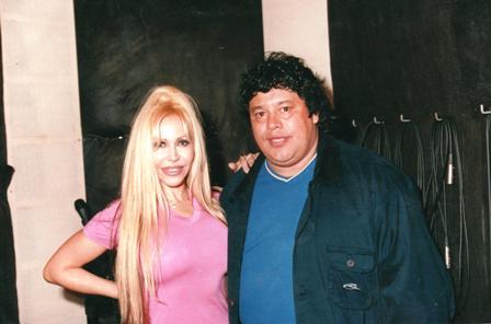 Junto a Alejandra Pradón