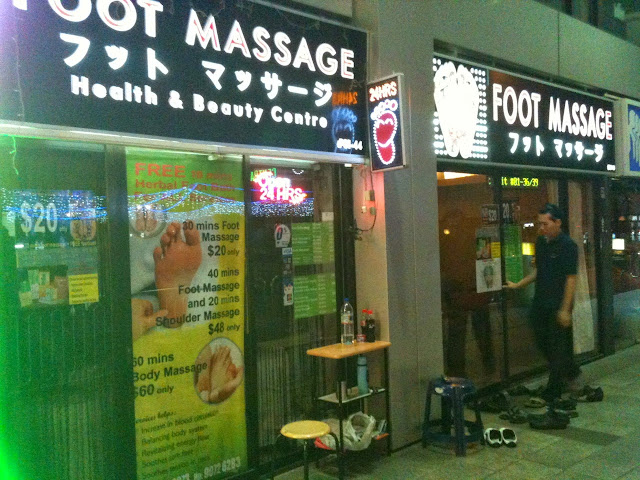herbal footcare health and beauty centre shop front