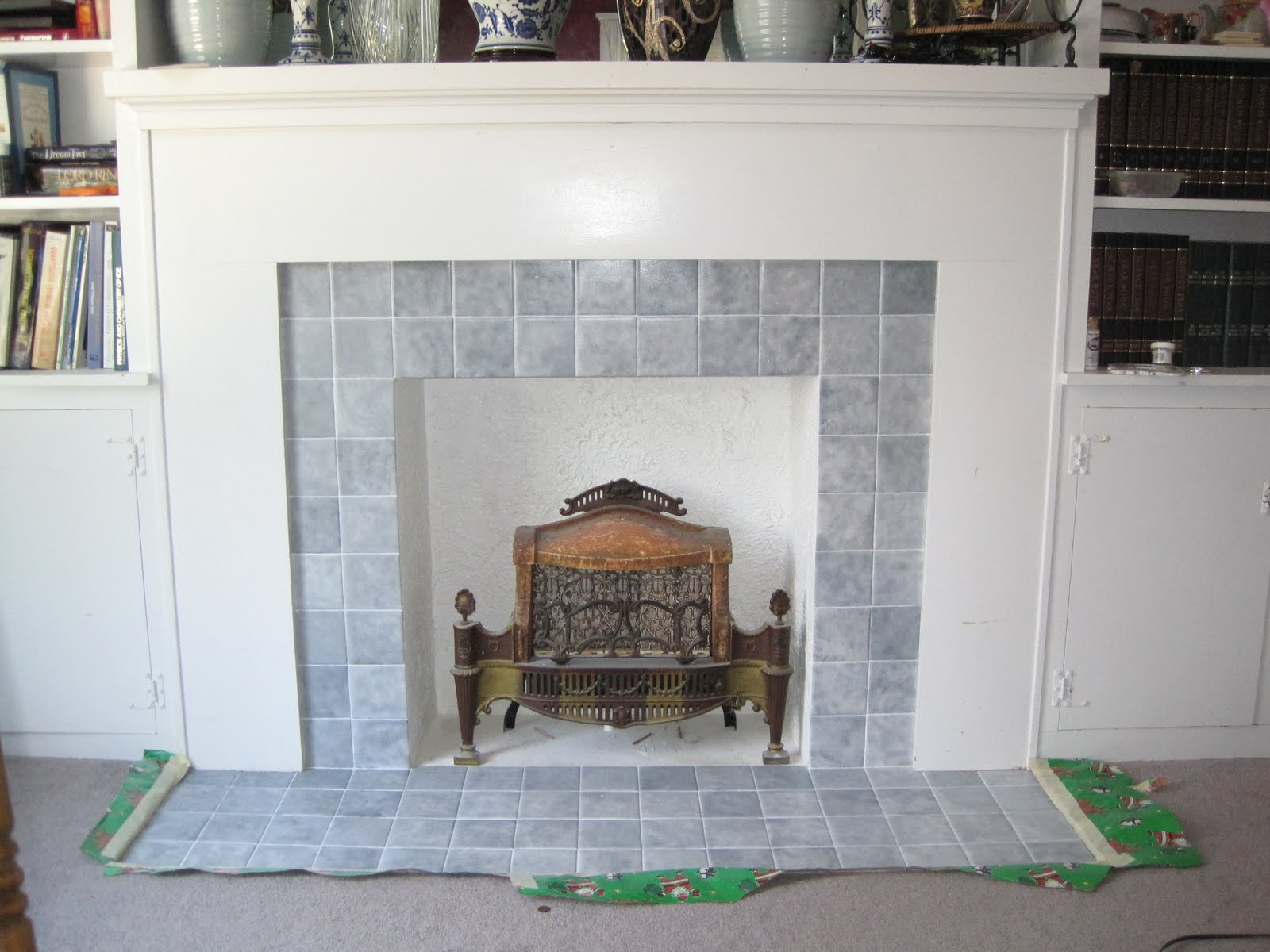 too much time fireplace makeover