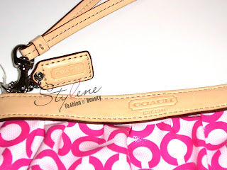 COACH Leah Coated Canvas Medium Wristlet
