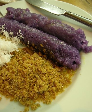 The two favorite Christmas dishes in Philippine cuisine are Puto Bumbong and