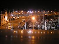 Paimpol la nuit, le port de plaisance