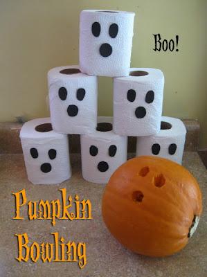 pumpkin bowling - Halloween Cake Games