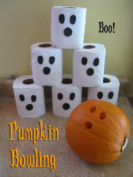 pumpkin activities and games- pumpkin bowling