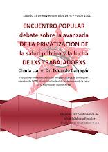 Encuentro popular sobre el debate de la avanzada de la privatización de la Salud Pública