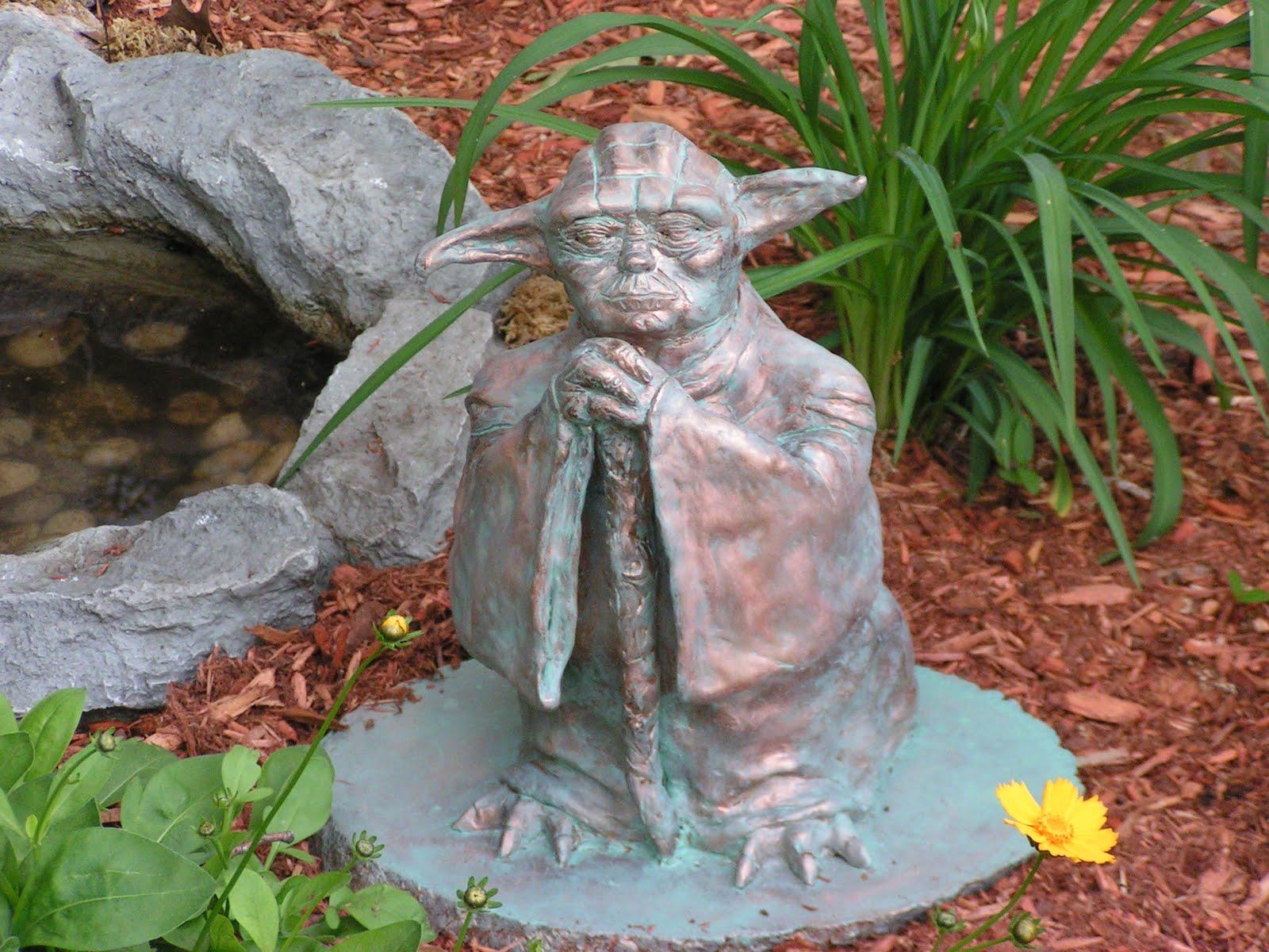 Whoops I think I broke it...: Project Yoda Garden Statue