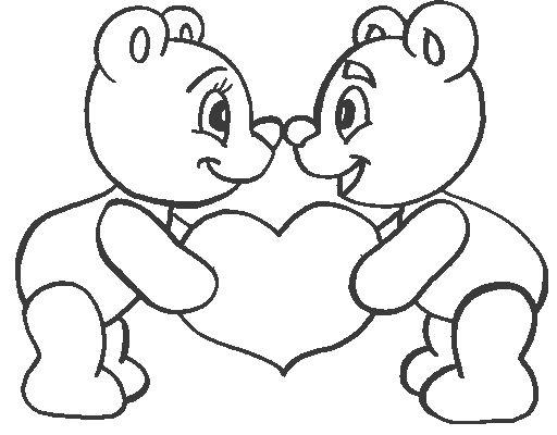 Desenhos De Ursos Apaixonados   Cora    O