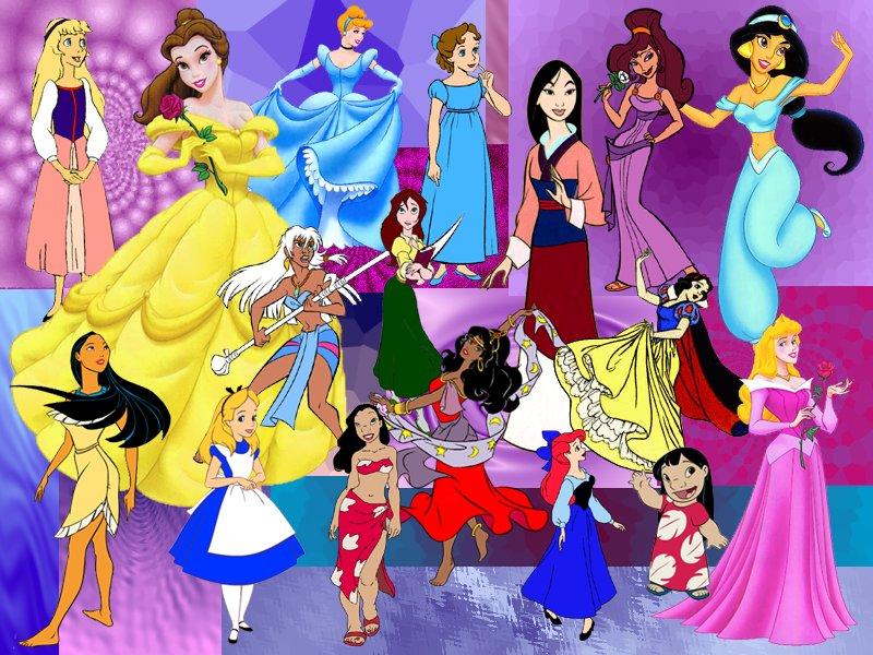 Nuestras princesas favoritas, todas!, bueno... o al menos, eso creo ...