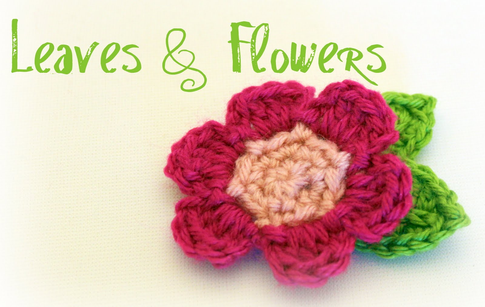 Free Crochet Pattern Simple Flower : PATTERN FOR CROCHETED FLOWER