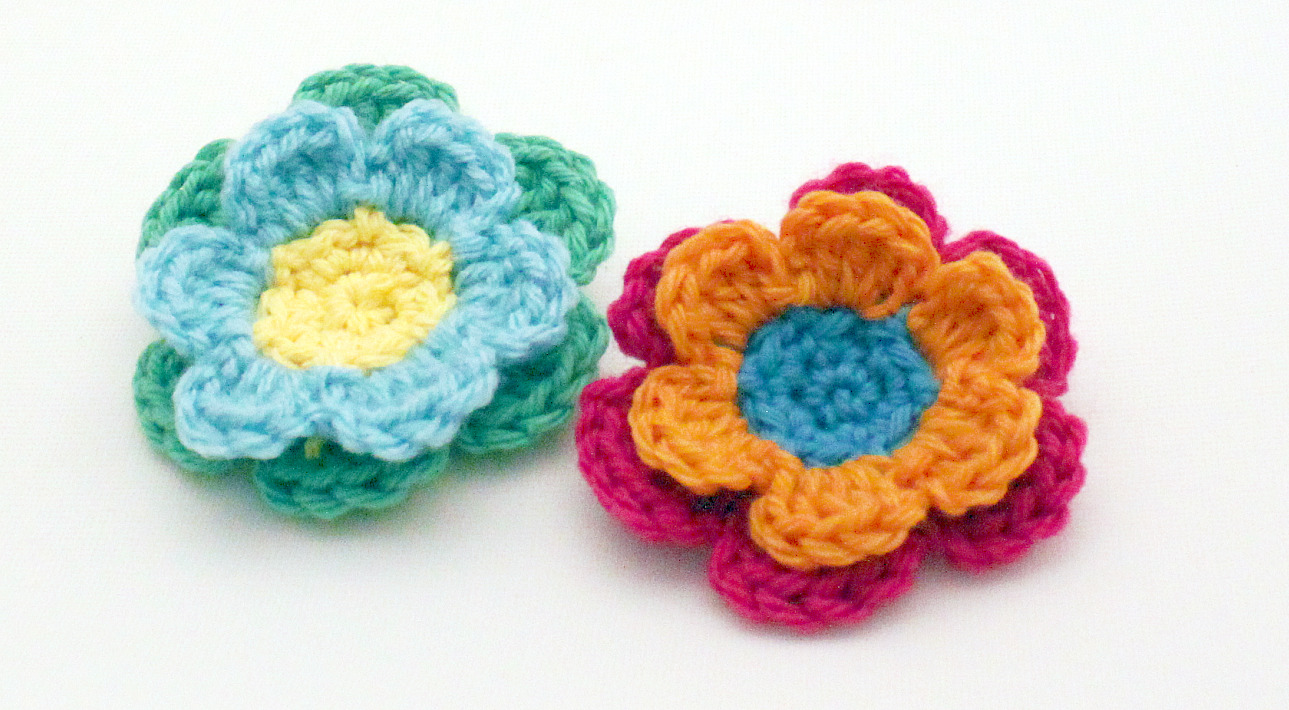 Simple Crochet Flower Free Pattern : Crochet Pattern - mamacheemamachee