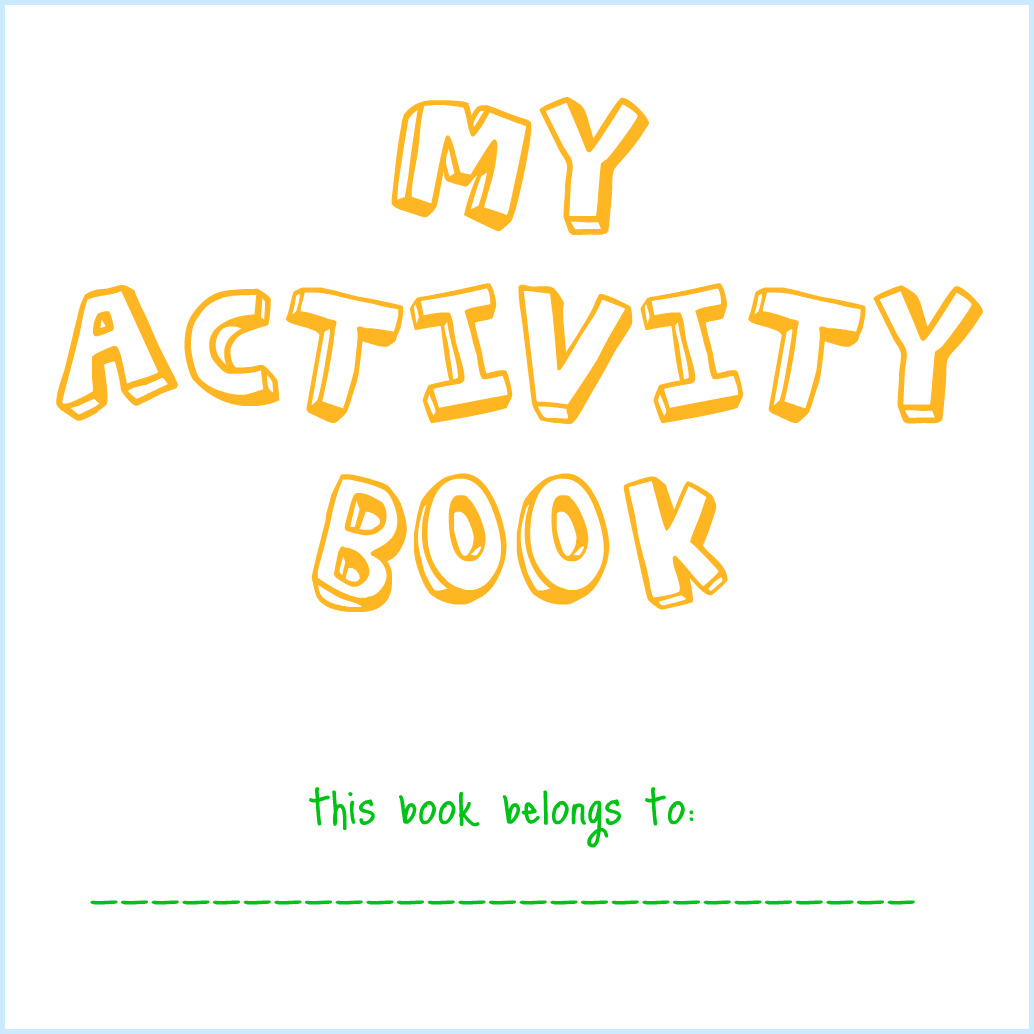 Book Cover Typography Worksheets ~ Dry erase activity book
