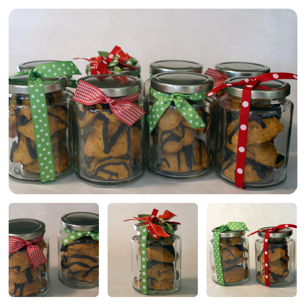 Chocolate Glazed Pumpkin Cookies in a Jar