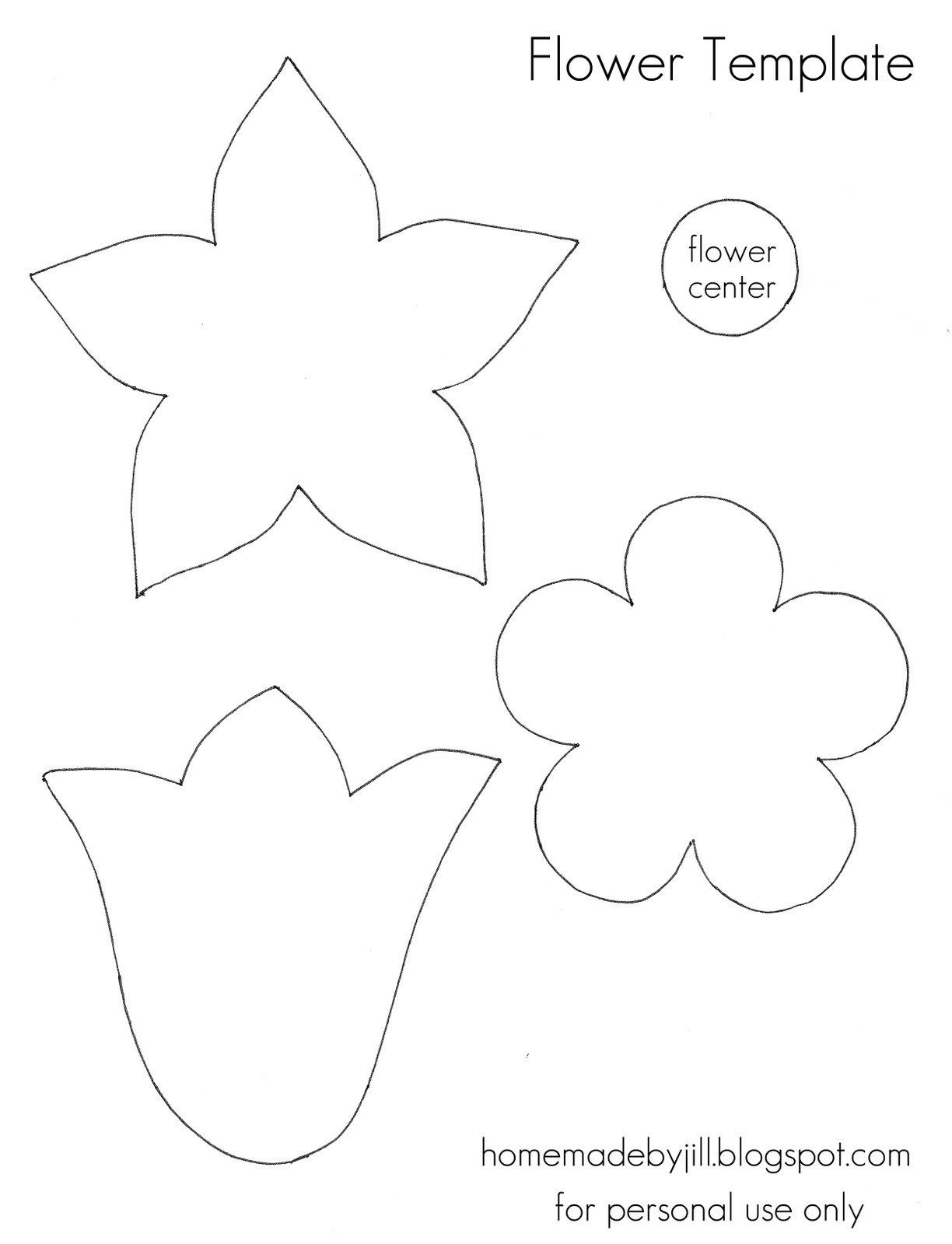 Adorable image within flower templates printable