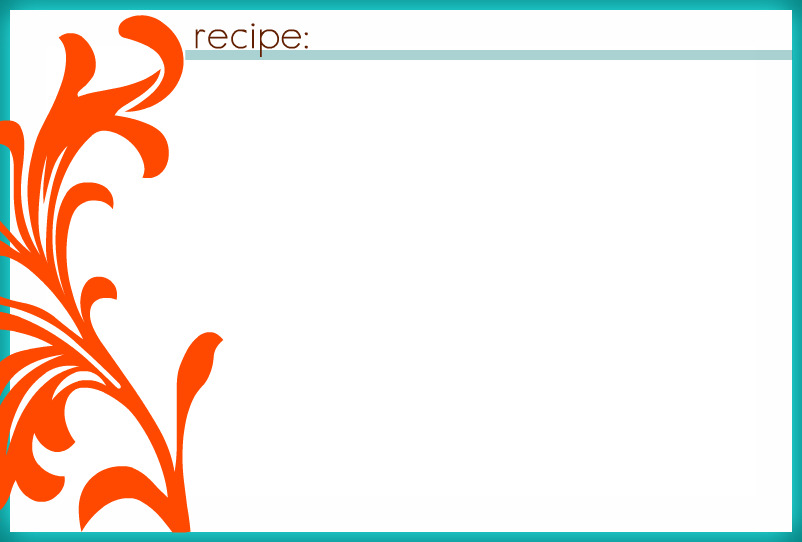Blank Recipe Card  BesikEightyCo