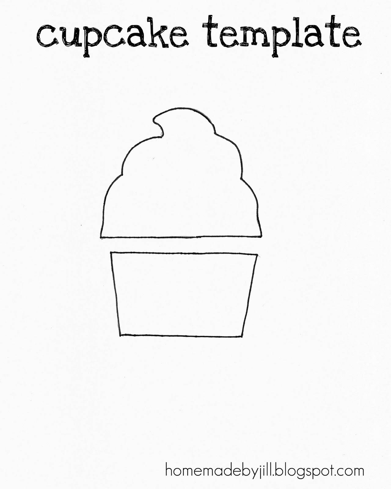 Cupcake Print Out