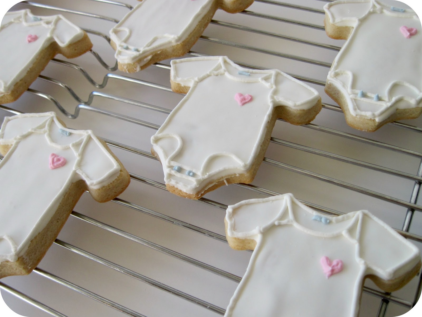 homemade by jill baby shower cookies