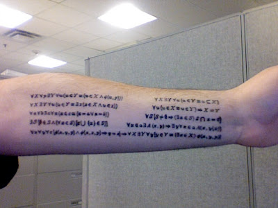 Science Tattoos, Or, How to Let the World Know You are REALLY a Nerd