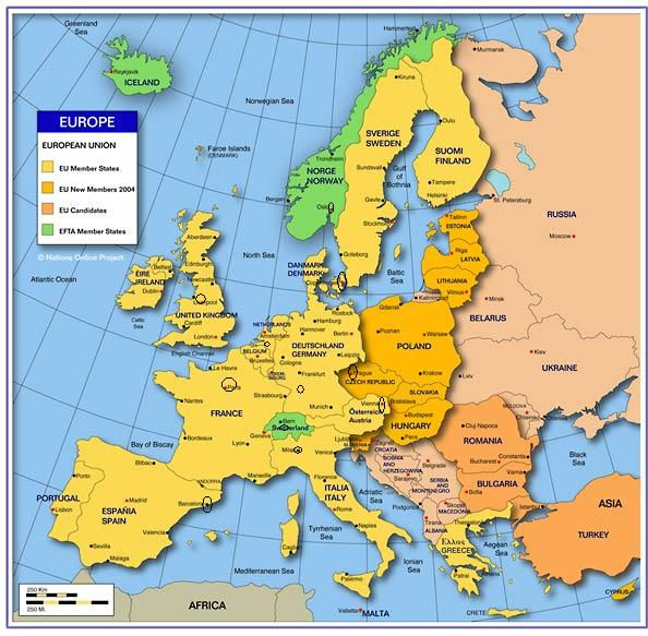 map of european cities and countries. map of european cities and