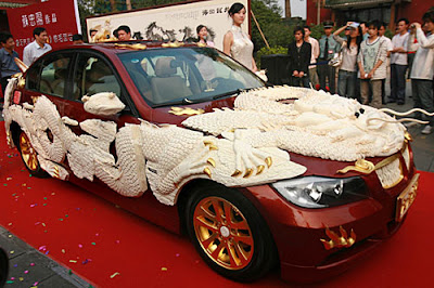 Car with Ivory Carvings