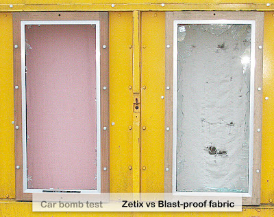 Zetix vs Blast proof fabric