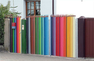 Coloured Pencil Fence