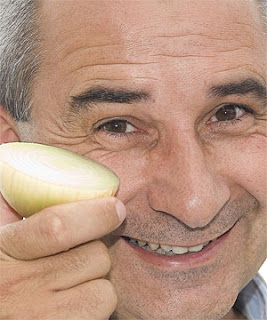 Dr Colin Eady with one of the tearless onions