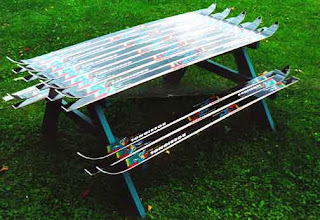 Recycled Ski Picnic Table