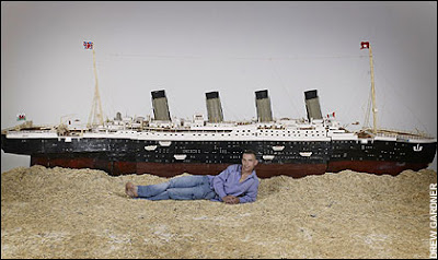 Titanic made from matchsticks