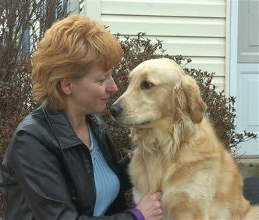 Debbie Parkhurst poses with her dog