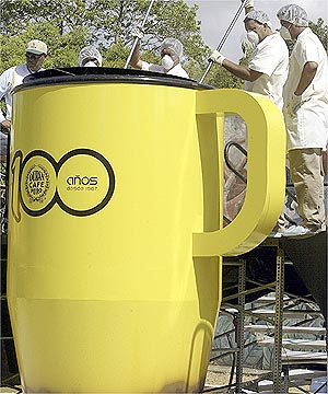 World's biggest cup of coffee