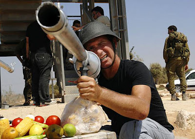 Israelis using food as ammo for their weapons