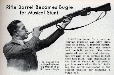 A rifle used as a musical instrument