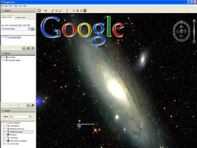 Screenshot of Google Sky