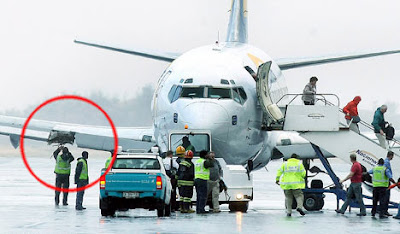 Plane with missing engine