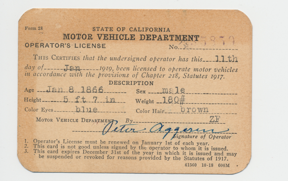 California Driver S License Restriction Codes 47 59