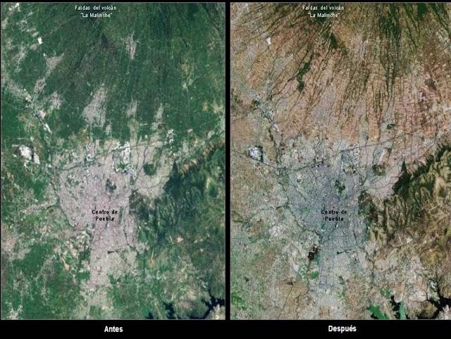 Deforestación en el valle de Puebla