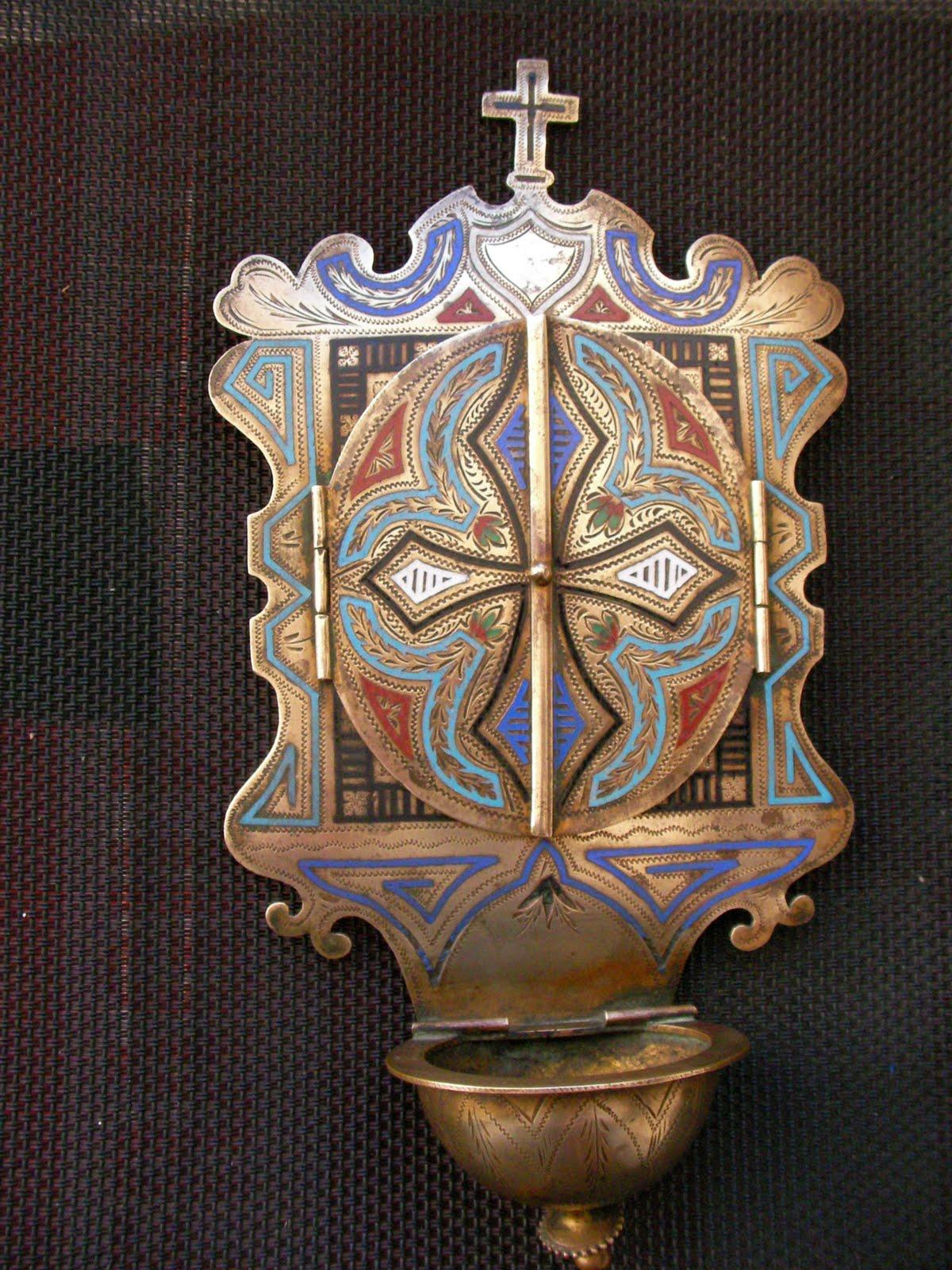 objets de collection art deco tableaux ancien reliquaire benitier bronze et email. Black Bedroom Furniture Sets. Home Design Ideas