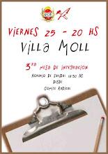 VIERNES 25, MESA DE INTEGRACION EN VILLA MOLL