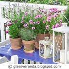 Mine blåmalte hagebord