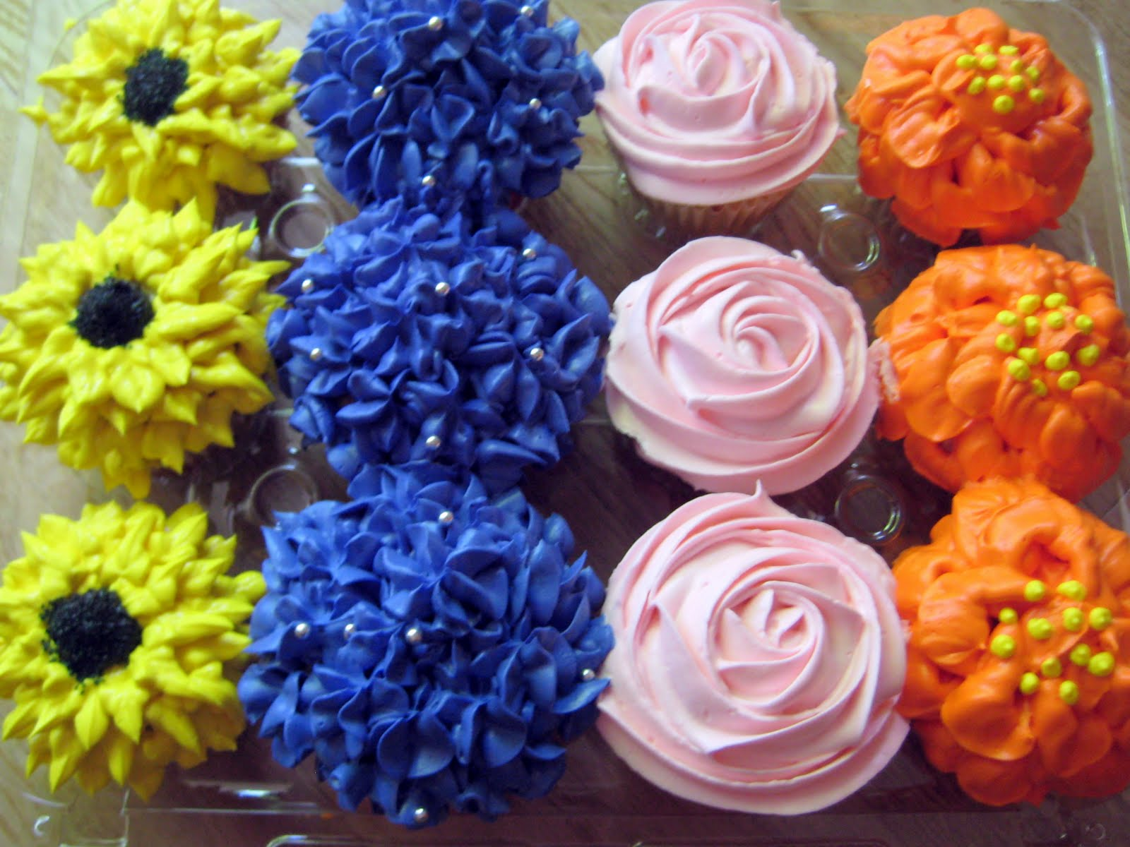Spring Flower Cupcakes for Teacher Appreciation Week